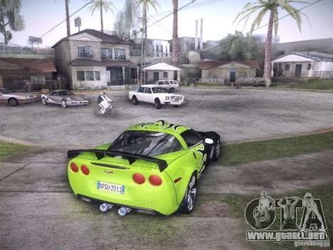 Chevrolet Corvette C6 Z06 Tuning para vista inferior GTA San Andreas