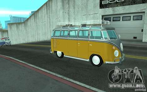 Volkswagen Transporter T1 SAMBAQ CAMPERVAN para GTA San Andreas left