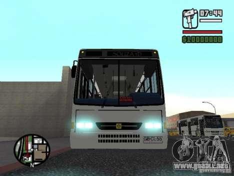 Busscar Urbanus SS Volvo B10M para vista lateral GTA San Andreas