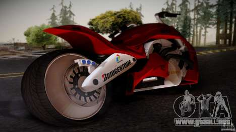 Predator Superbike para GTA San Andreas left