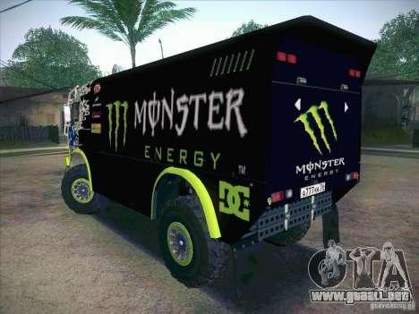 KAMAZ maestro 4911 Monster Energy para GTA San Andreas left