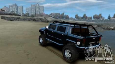 Hummer H2 4x4 OffRoad para GTA 4 visión correcta