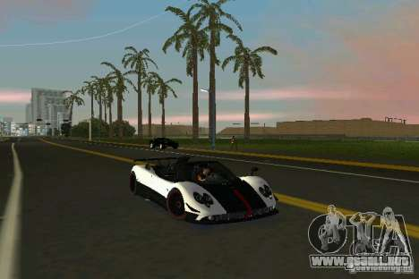 Pagani Zonda Cinque Roadster 2010 para GTA Vice City vista lateral izquierdo