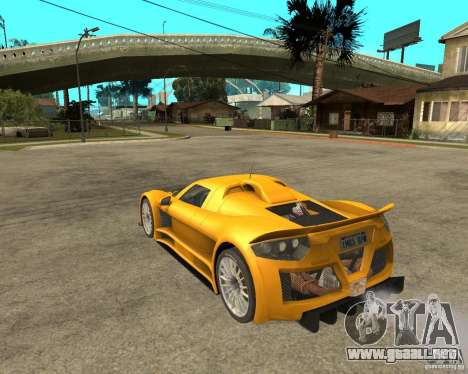 Gumpert Appolo para GTA San Andreas left