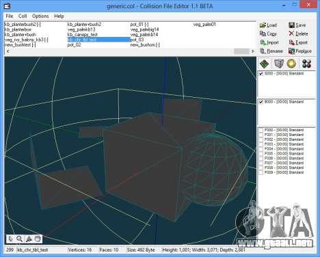 CollEditor 1.1beta para GTA Vice City tercera pantalla