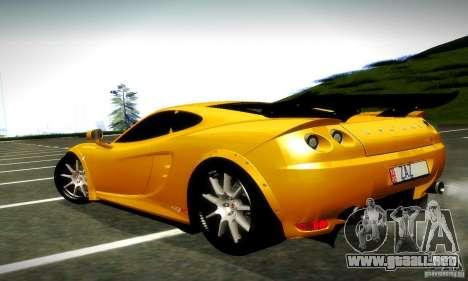 Ascari KZ1R Limited Edition para GTA San Andreas vista posterior izquierda