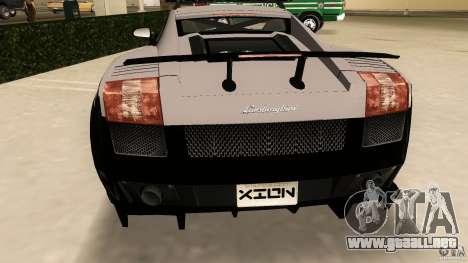 Lamborghini Gallardo Police para GTA Vice City vista posterior