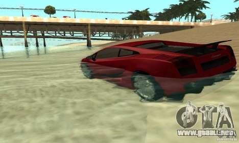 0,075 ENBSeries (agua) para GTA San Andreas segunda pantalla