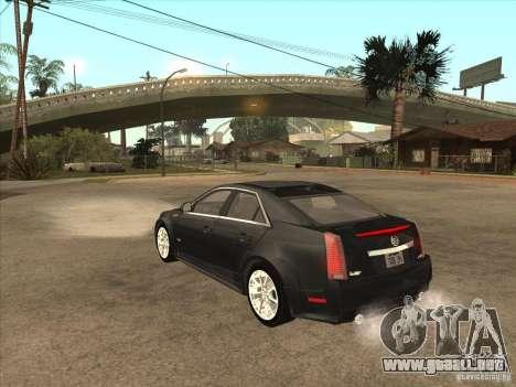 Cadillac CTS-V 2009 para GTA San Andreas vista posterior izquierda