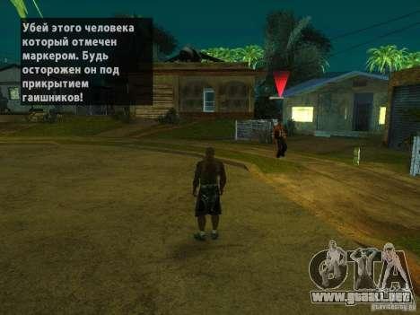 Killer Mod para GTA San Andreas segunda pantalla