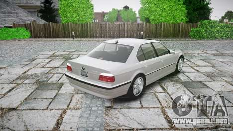 BMW 740i (E38) style 32 para GTA 4 Vista posterior izquierda