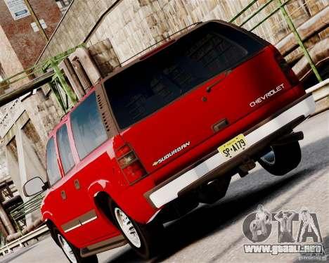 Chevrolet Suburban 2006 V1.1 CIVIL para GTA 4 visión correcta