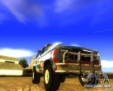 Blazer XL FlatOut2 para la vista superior GTA San Andreas