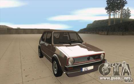 Volkswagen Golf Mk1 - Stock para GTA San Andreas vista hacia atrás