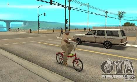 Bicicleta de Kama para la visión correcta GTA San Andreas