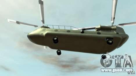 CH-47 para GTA 4 vista lateral