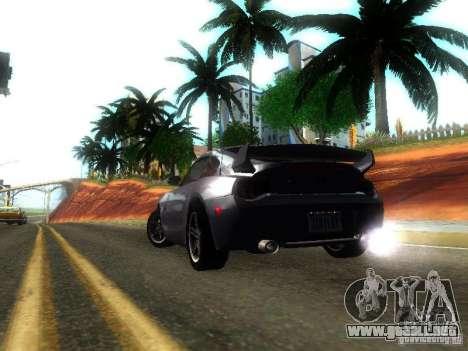 BMW Z4 M 07 para GTA San Andreas vista posterior izquierda