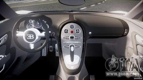Bugatti Veyron 16.4 v1 para GTA 4 visión correcta