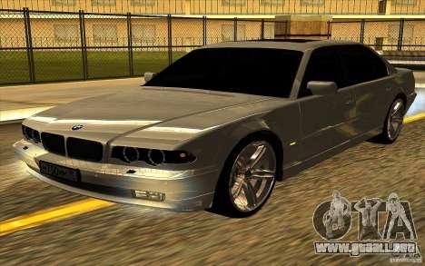 BMW 750iL E38 para visión interna GTA San Andreas