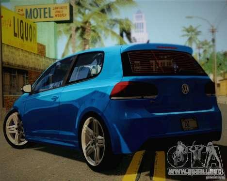 Volkswagen Golf R 2010 para GTA San Andreas left
