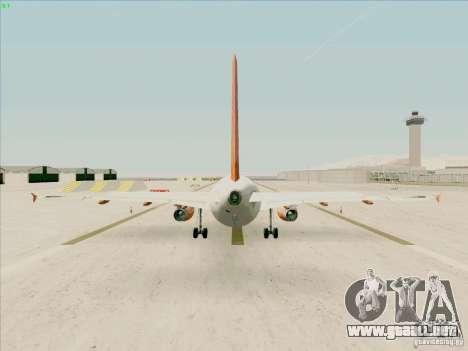 Airbus A319 Easyjet para la visión correcta GTA San Andreas