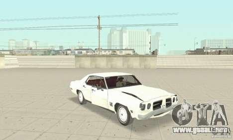 Pontiac LeMans 1971 para visión interna GTA San Andreas