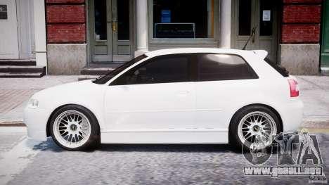 Audi A3 Tuning para GTA 4 Vista posterior izquierda
