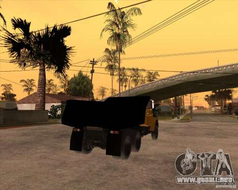 ZIL MMZ 4516 para GTA San Andreas vista posterior izquierda