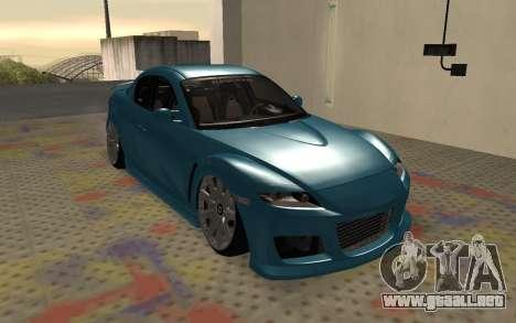 Mazda RX8 VIP para GTA San Andreas left
