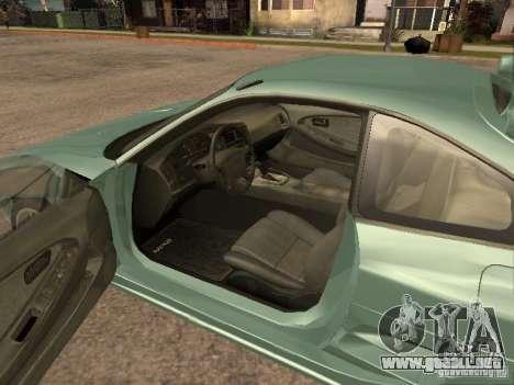 Toyota MR2 1994 TRD para GTA San Andreas vista hacia atrás