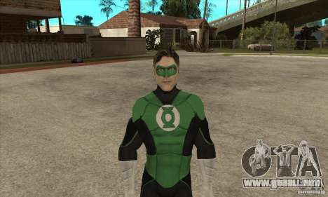 Green Lantern para GTA San Andreas segunda pantalla