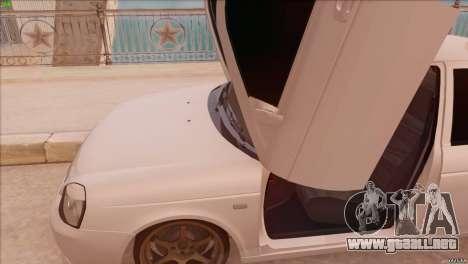 LADA 2170 Sport para GTA San Andreas vista posterior izquierda