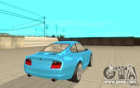 Cometa de GTA 4 para GTA San Andreas vista posterior izquierda