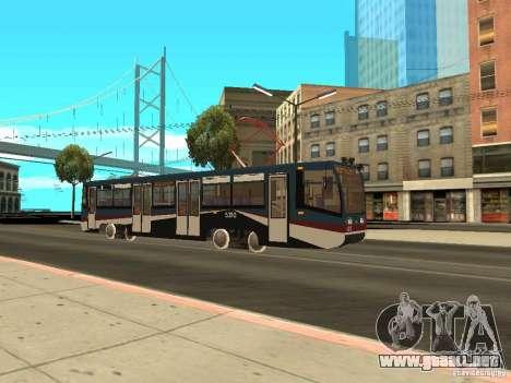 El nuevo tranvía para GTA San Andreas quinta pantalla