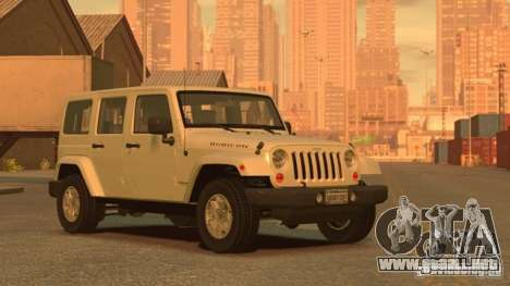 Jeep Wrangler Unlimited Rubicon 2013 para GTA 4