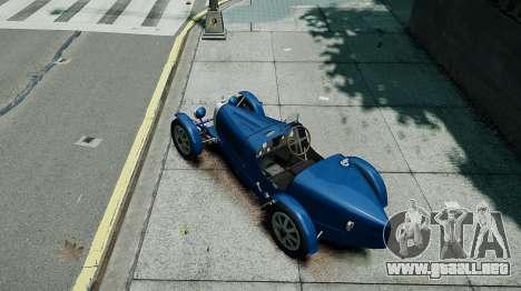Bugatti Type 35C para GTA 4 vista hacia atrás