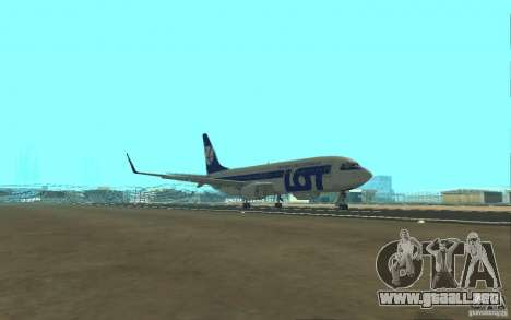 Boeing 737 LOT Polish Airlines para visión interna GTA San Andreas
