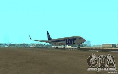 Boeing 737 LOT Polish Airlines para visión interna GTA San Andreas