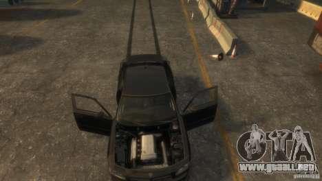 Dodge Charger Fast Five para GTA 4 vista hacia atrás