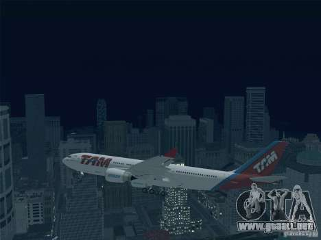 Airbus A330-223 TAM Airlines para la vista superior GTA San Andreas