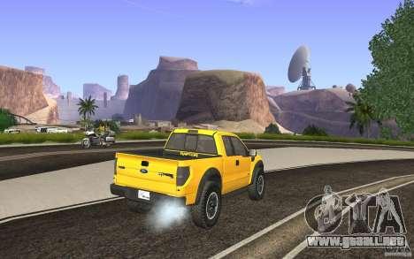 Ford F150 SVT RapTor para GTA San Andreas left