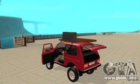 VAZ 2121 Niva para GTA San Andreas vista hacia atrás