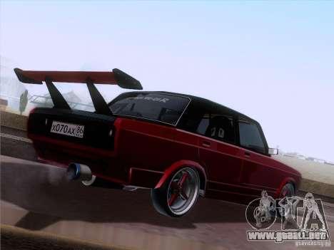 VAZ 2107 coche Tuning para la visión correcta GTA San Andreas