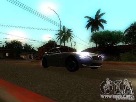 BMW Z4 M 07 para GTA San Andreas vista hacia atrás