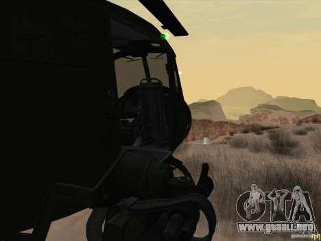 Helicóptero Huey de call of duty ops negro para visión interna GTA San Andreas