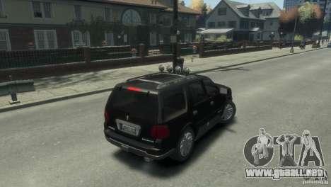Lincoln Navigator para GTA 4 Vista posterior izquierda