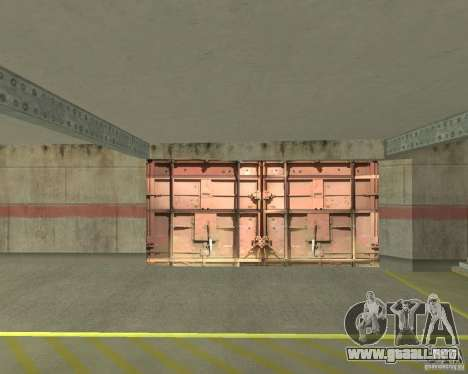 Compuerta neumática en área 69 para GTA San Andreas tercera pantalla