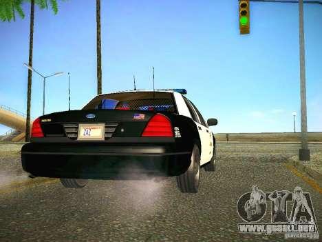 Ford Crown Victoria Police Intercopter para la visión correcta GTA San Andreas