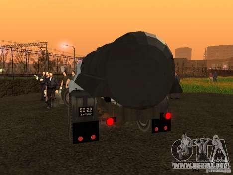 GAZ 53 Flusher para GTA San Andreas vista posterior izquierda