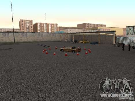 Realista conducción escuela v1.0 para GTA San Andreas segunda pantalla